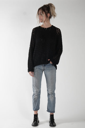 CARLSON SWEATER - BLACK - Knot Sisters