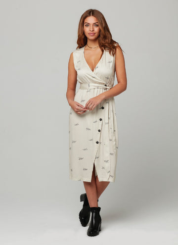 ELLIE DRESS-Tiger Block Print