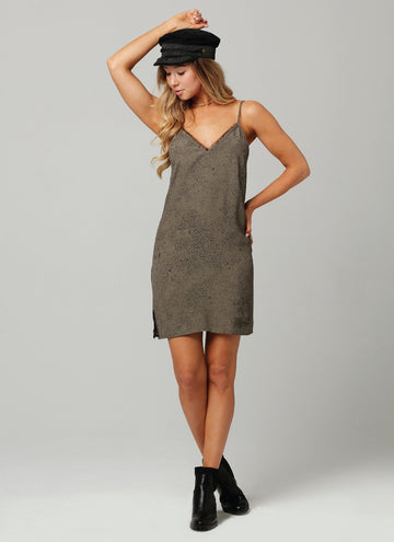 SHEILA DRESS-Olive Black