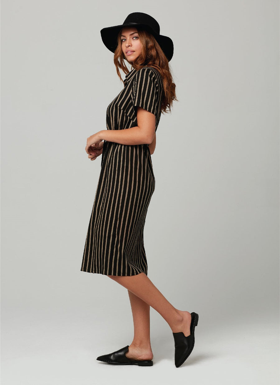 MICKIE DRESS-Black Gold