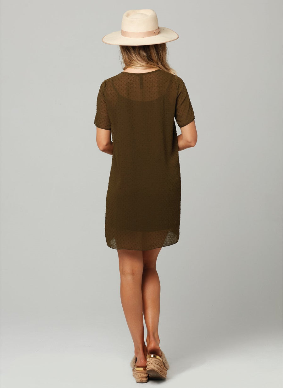 CICI DRESS-Military Green