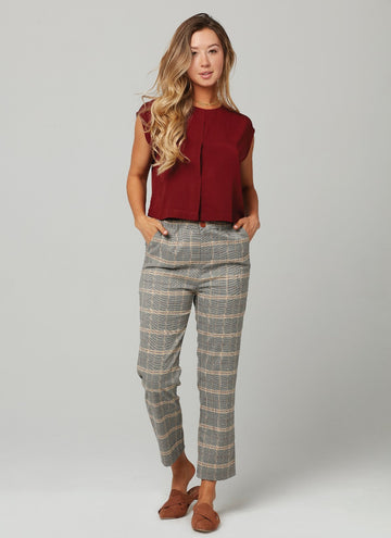 SHERLOCK PANT-Military Plaid