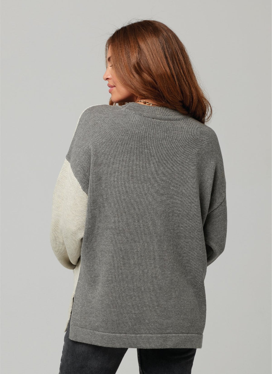 MOLLY CARDIGAN-HEATHER GREY