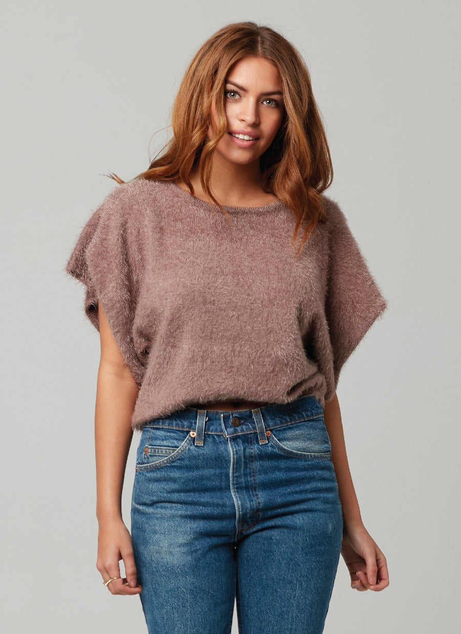 NINA SWEATER-Faded Rose