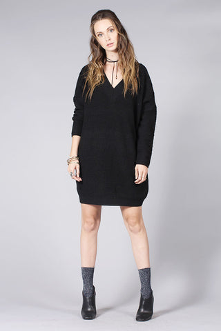 SALT SWEATER DRESS - BLACK