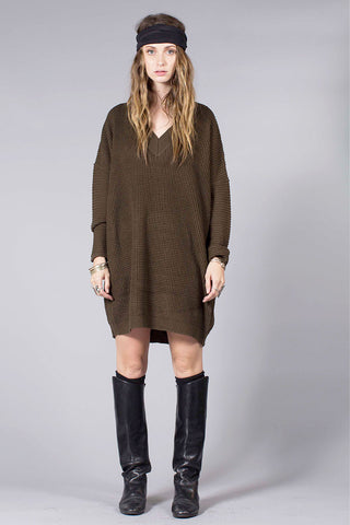 SALT SWEATER DRESS - MILITARY GREEN