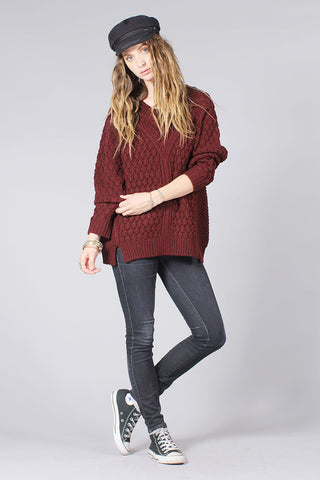 McALLISTER SWEATER - BURGUNDY