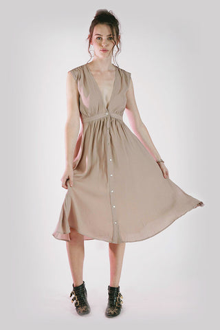 SECRET GARDEN DRESS - DUSTY LILAC