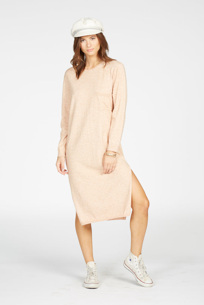 DARRIEN SWEATER DRESS - BARELY BLUSH