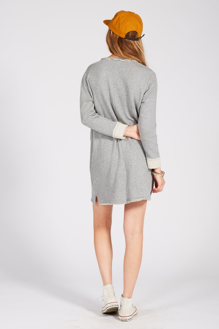 CHICAGO DRESS - HEATHER GREY - Knot Sisters