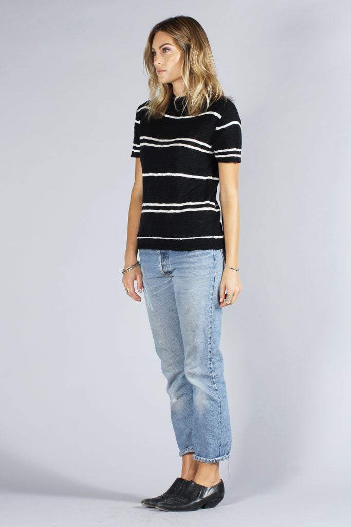 COASTAL SWEATER - BLACK STRIPE