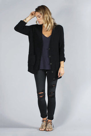 HAMPTONS CARDIGAN - BLACK