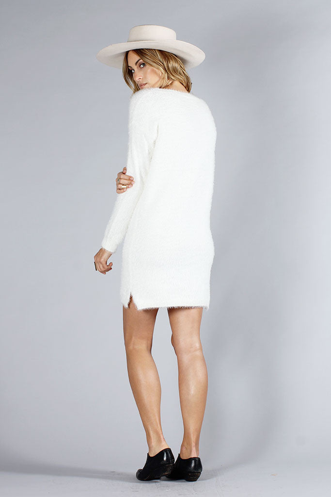 SHORE SWEATER DRESS - CREAM