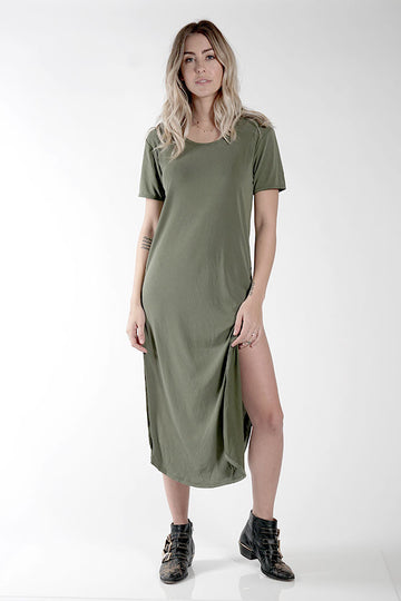 DIDDY DRESS - OLIVE - Knot Sisters