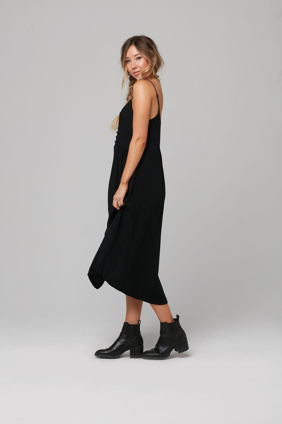 MOTLEY DRESS-BLACK