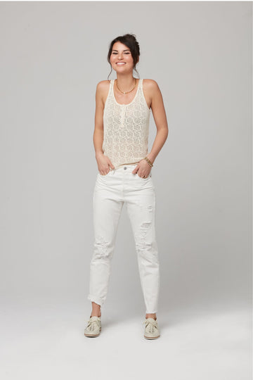KIERA SWEATER TANK-OFF WHITE