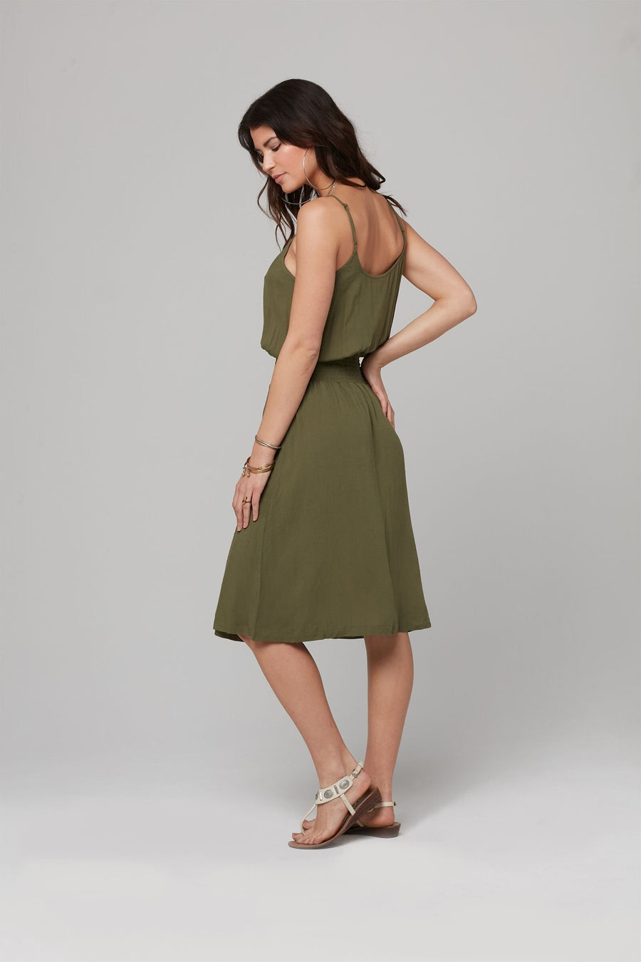 BRYNN DRESS-Military