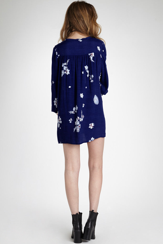 VALLEY DRESS - NAVY FLORAL