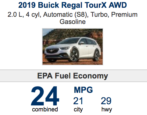 2019 BUICK REGAL TOUR X