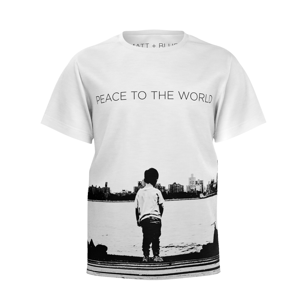 MATT + BLUE PEACE TO THE WORLD T-SHIRT (Youth Size)