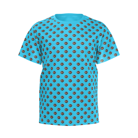TryHardNinja Blue Pattern T-Shirt (Kids)