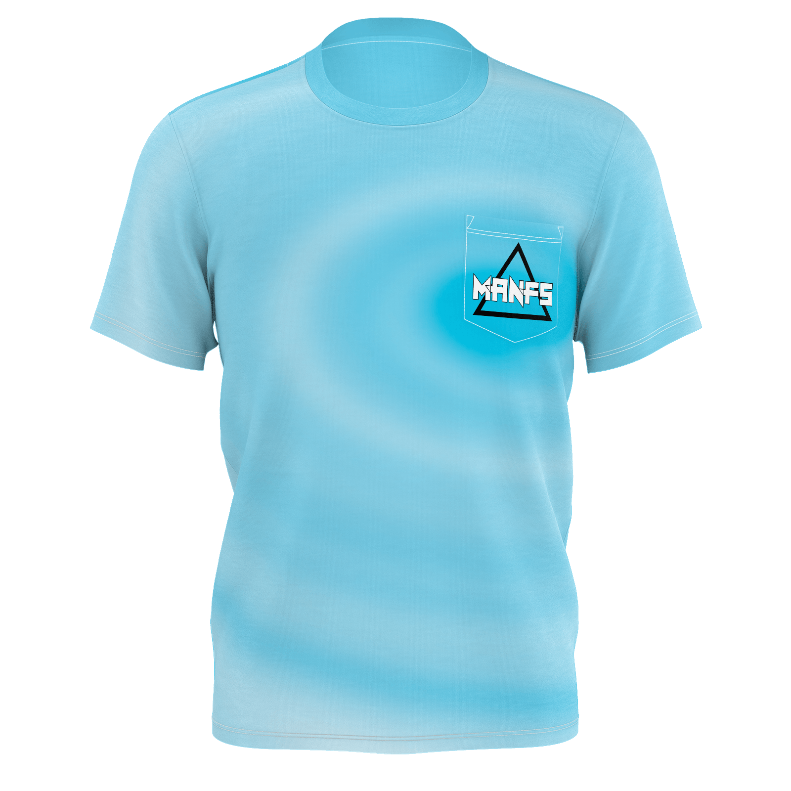 Mikey Manfs Blue Pocket T-Shirt