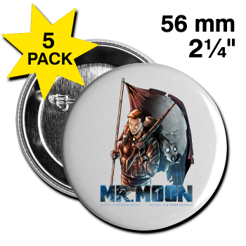 MrMoon Character Button - Large