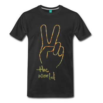 MATT + BLUE WHITE PEACE 2 THE WORLD T-SHIRT (ADULT'S SIZE)