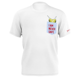 TAYLOR NICOLE DEAN WHITE CHEESE POCKET T-SHIRT