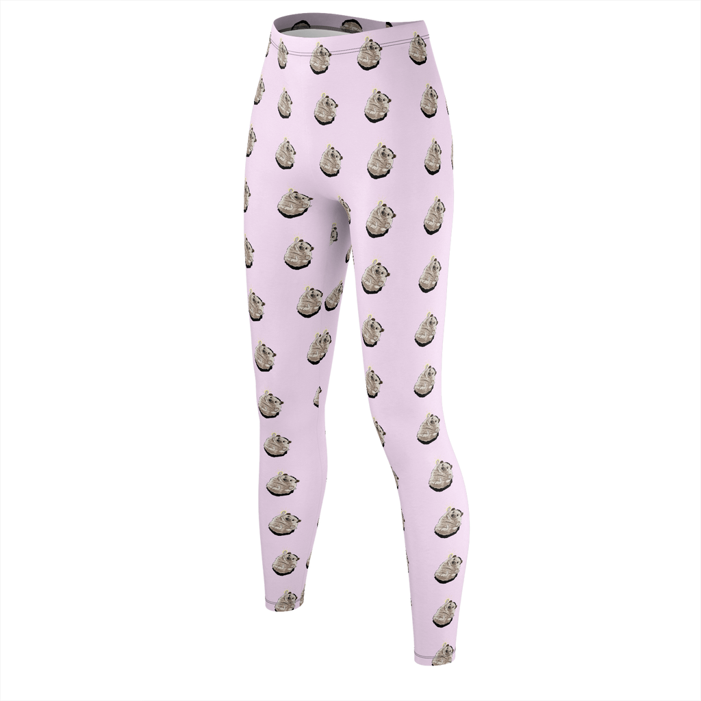 Taylor Nicole Dean Cheering Hedgehog Pink Leggings