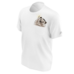 Taylor Nicole Dean White Cheering Hedgehog Pocket T-Shirt