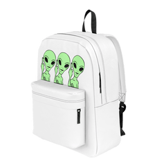 SimplyNessa White Alien Backpack