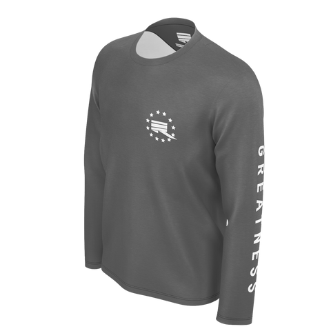 RMG GREY STAR LONG SLEEVED TSHIRT
