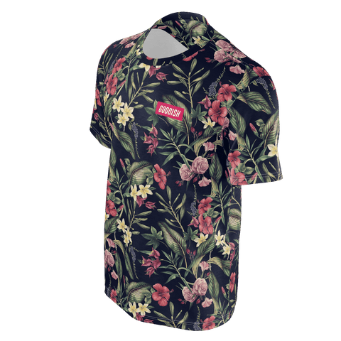 Deraj Goodish Floral Black T-Shirt