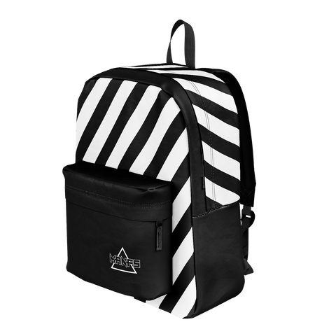 Mikey Manfs Diagonal Stripe Backpack