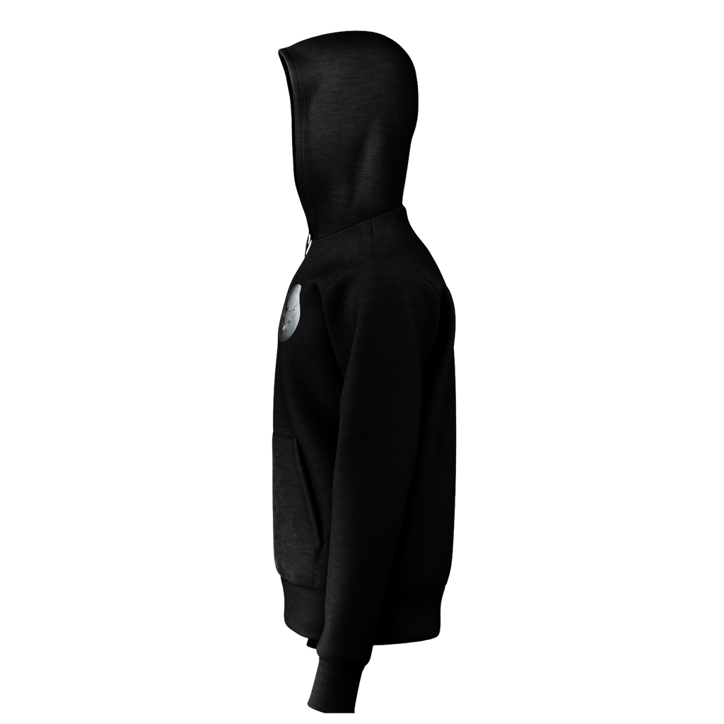 Mr. Moon - Black Logo Hoodies