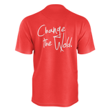 DEREK MINOR  CHANGE THE WORLD RED TSHIRT