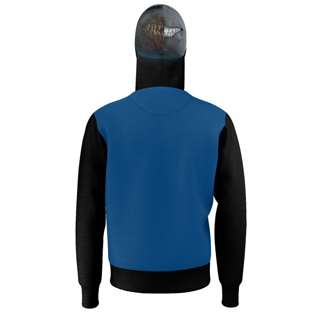 MrMoon with Flag Blue Hoodies (with MrMoon logo on the hood)