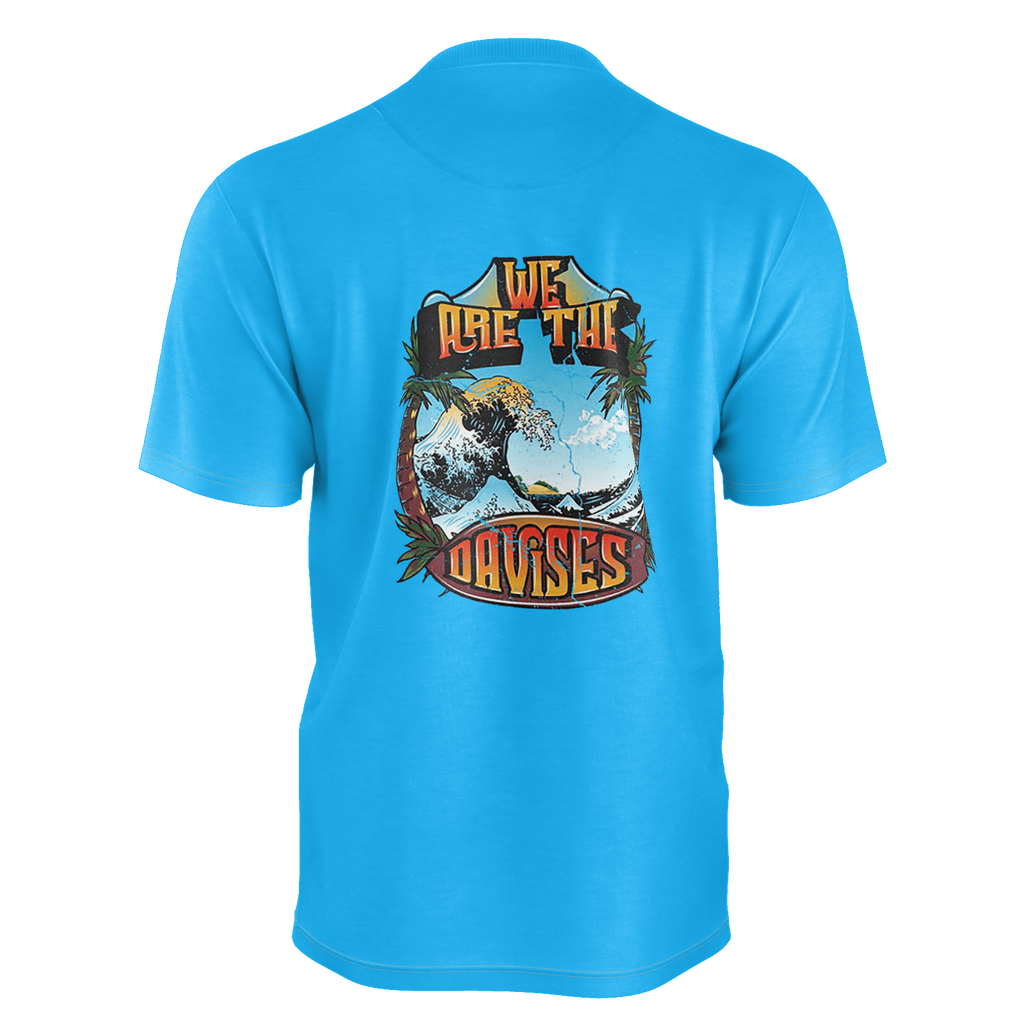 WE ARE THE DAVISES SURF T-SHIRT - BLUE