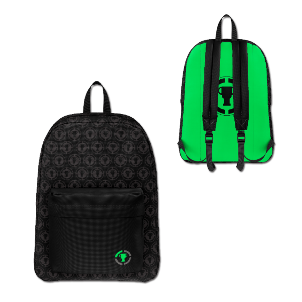 Game Theory Black and Green Backpack