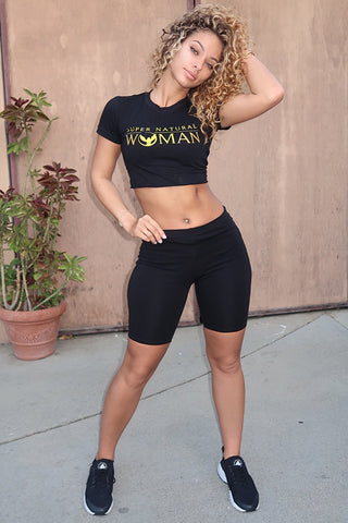 Lauren Wood Super Natural Woman Crop Top
