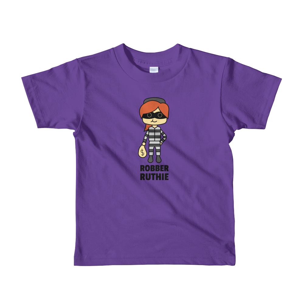 JackJackPlays Robber Ruthie Short Sleeve Youth t-shirt