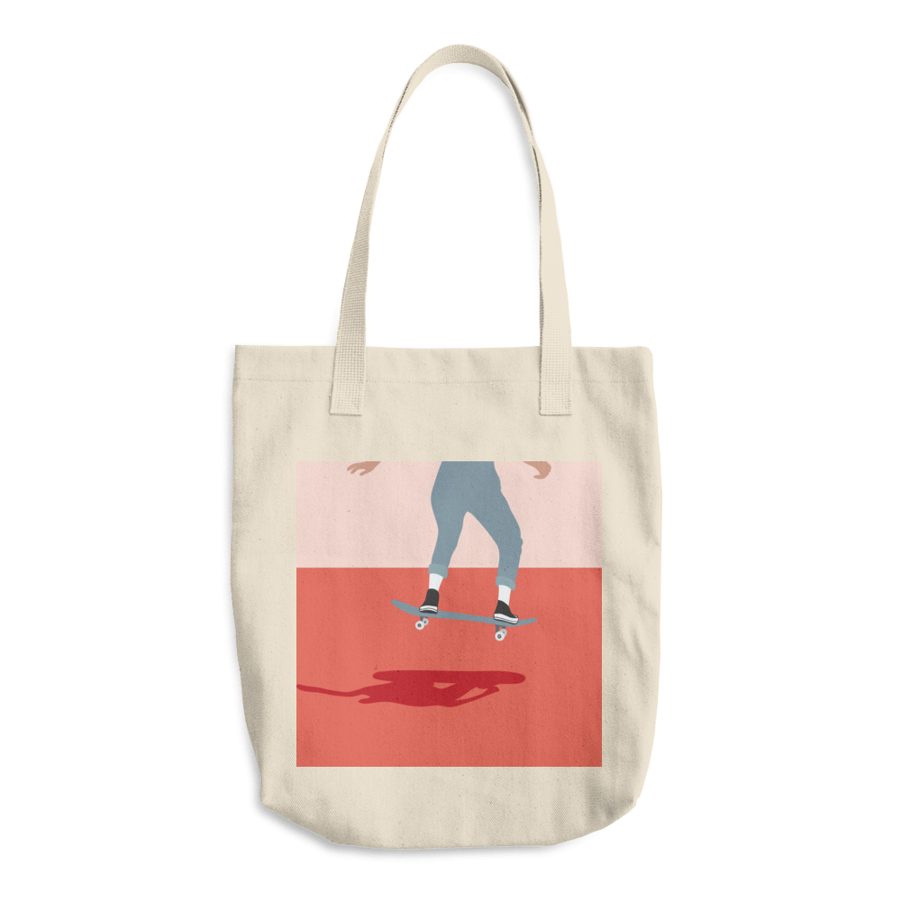 Lindseyrem Skater Cotton Tote Bag