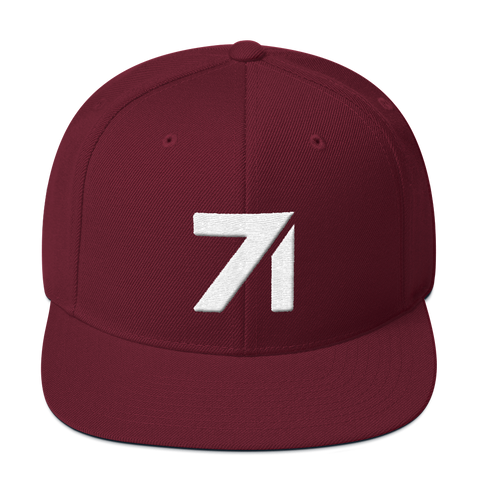 S71 Holiday Snapback Hat (Maroon)