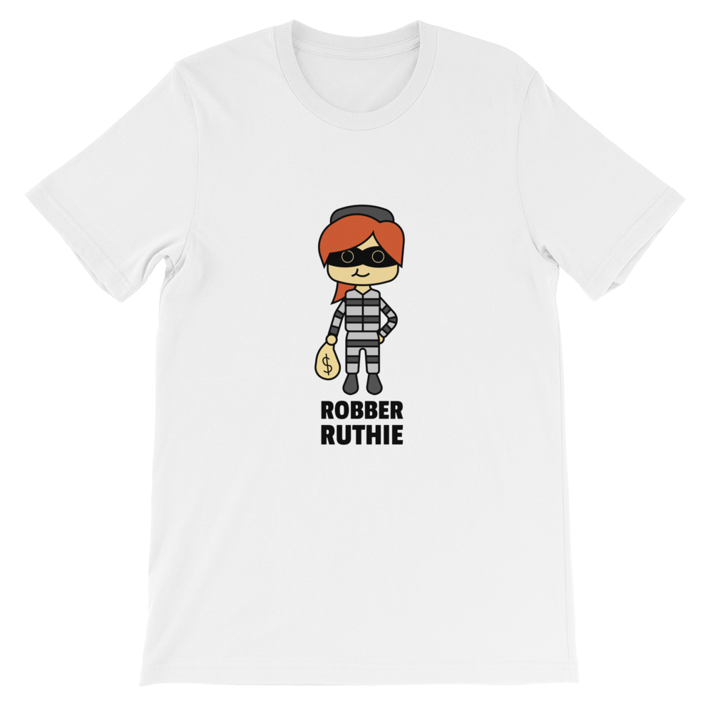 JackJackPlays Robber Ruthie Short-Sleeve Unisex T-Shirt
