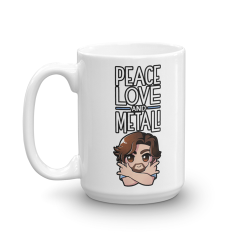 Caleb Hyles Peace Love Metal Mug (Multiple Sizes)