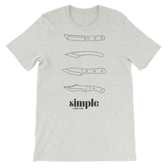 Simple Little Life Three Knives T-Shirt (Unisex)