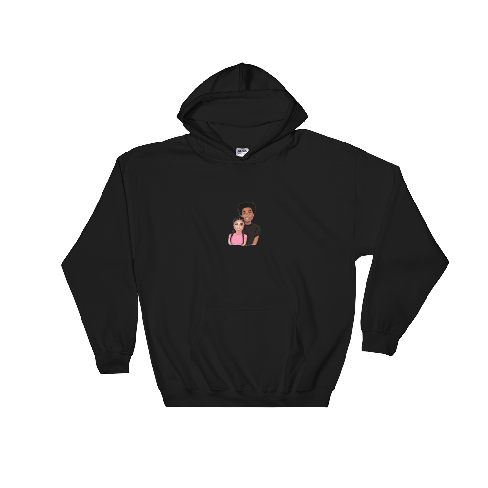 Davine & Bri Illustrated Hooded Sweatshirt