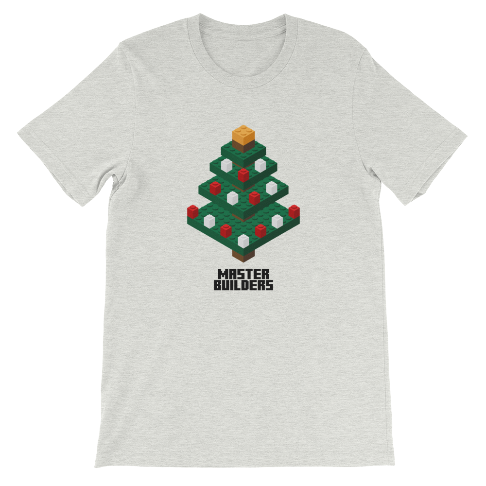 MasterBuilders Xmas Tree White T-Shirt (Unisex)