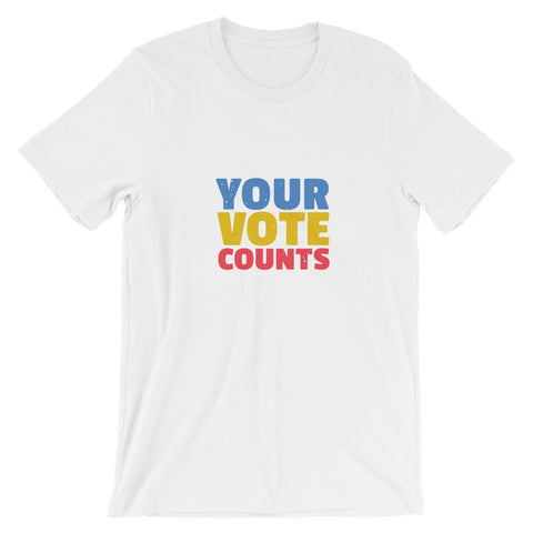Your Vote Counts (White) Short-Sleeve Unisex T-Shirt